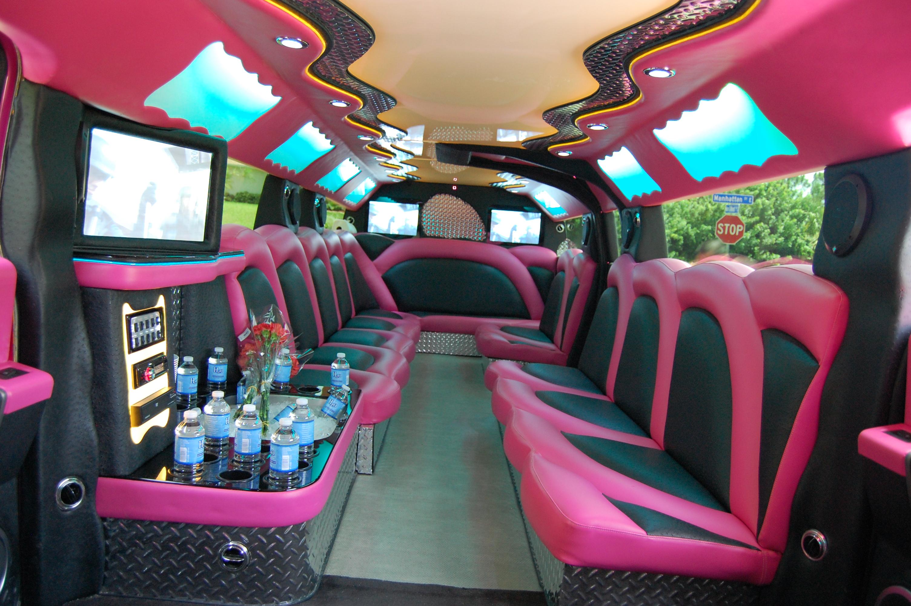 Pink Hummer Limo Interior Florida