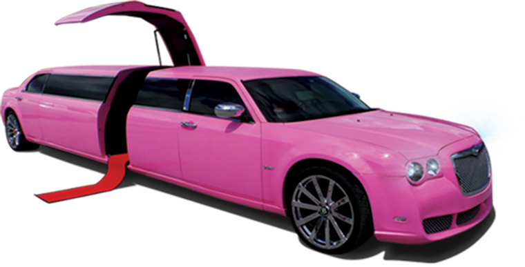 Pink Bentley Limo Clean Ride Limo