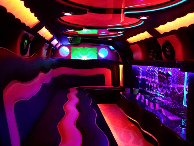 pink bentley Limo interior Florida
